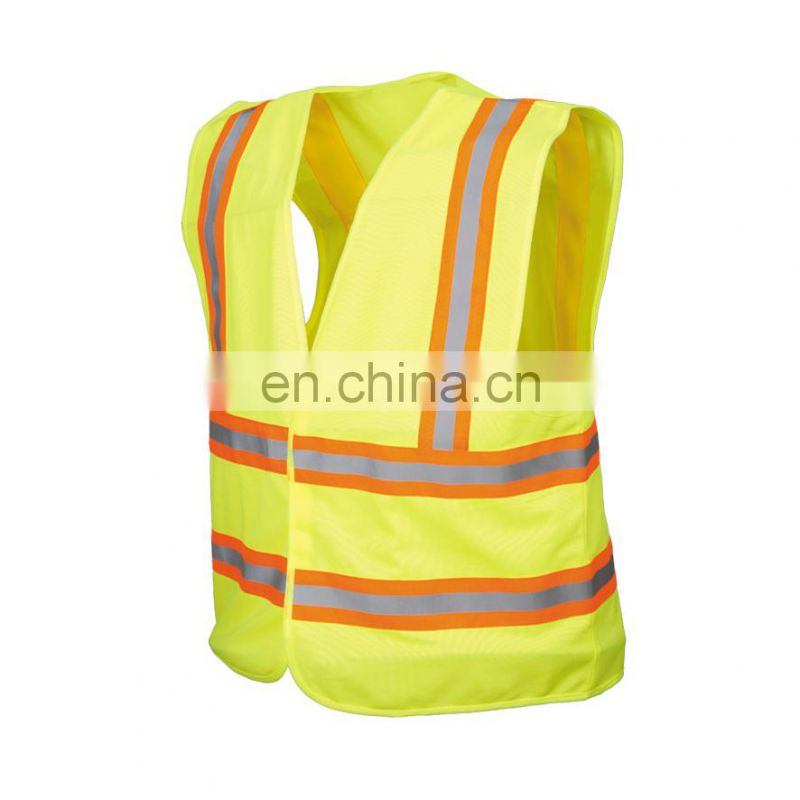 High Visibility Wholesale Clothing Mesh Safety Reflective Vest