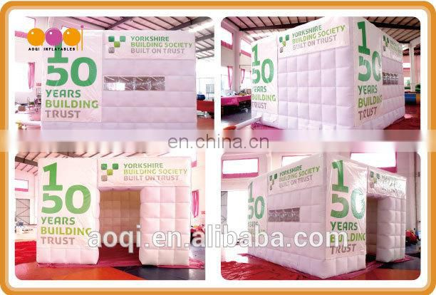 Commercial use white inflatable cube tent for trade show for sale