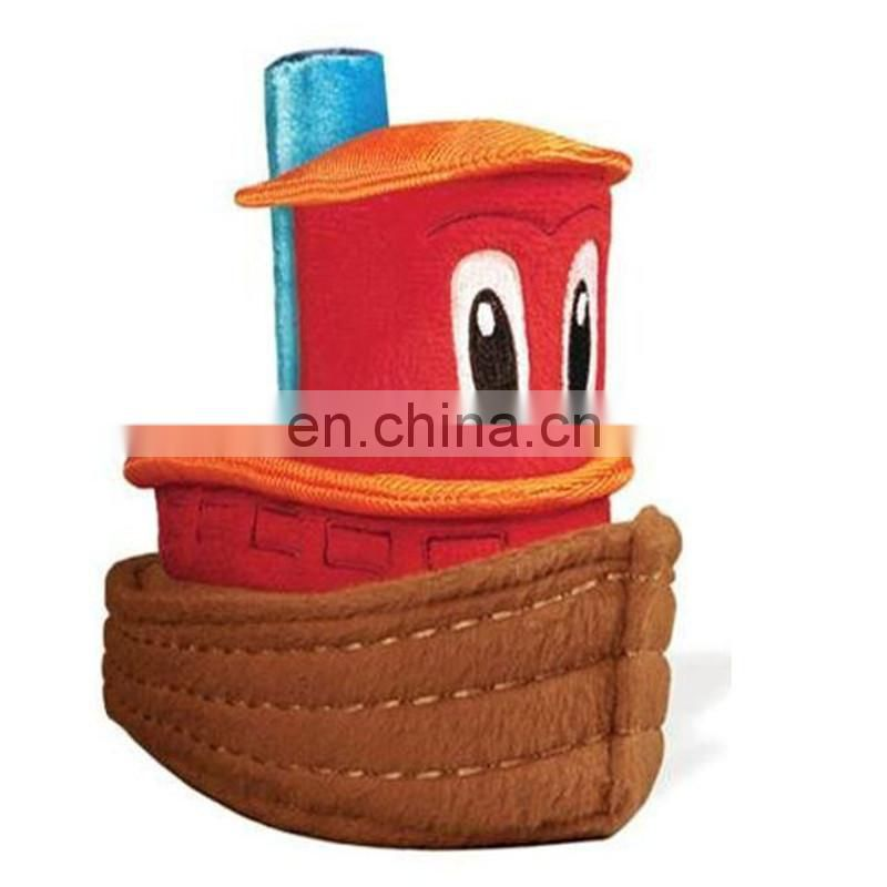 customized stuffed toy boat , Cheap baby soft plush toy Stuffed plush boat toy in manufacture hot sale price