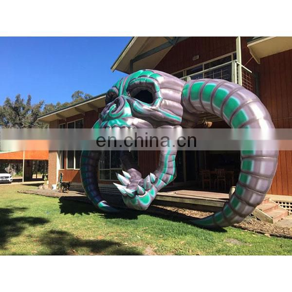 hanging inflatable skull halloween skull for decoration