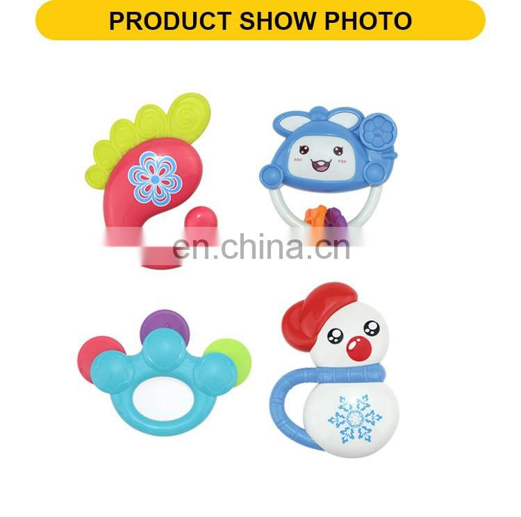 New product baby musical tambourine toys the plastic baby rattle toys(4pcs)