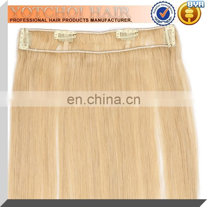 Best selling products color 613 clip in hair extensions for white women