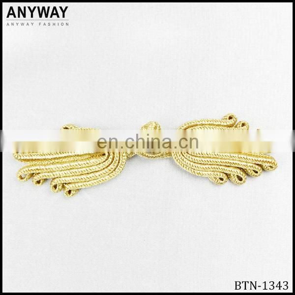 Custome gold color Tang suit button Chinese knot frog button