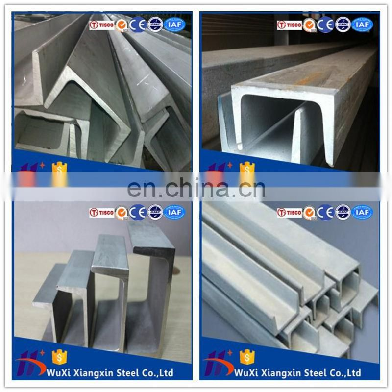Stainless Steel U Channel Shaped Steel Bars 321