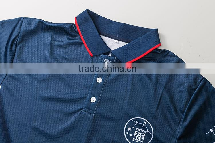 trade assurance 100 polyster customized printing uniform polo shirt