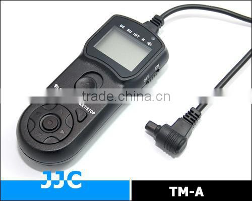 JJC TM-A Timer Remote Controller&Camera Remote Switch replaces TC-80N3 for Canon EOS 6D etc