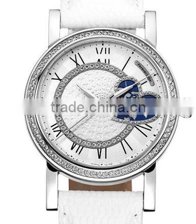 FS FLOWER - Nice Beauty Design Quality Heart Sharp Skeleton Women Mechanical Watch Chinese Movement