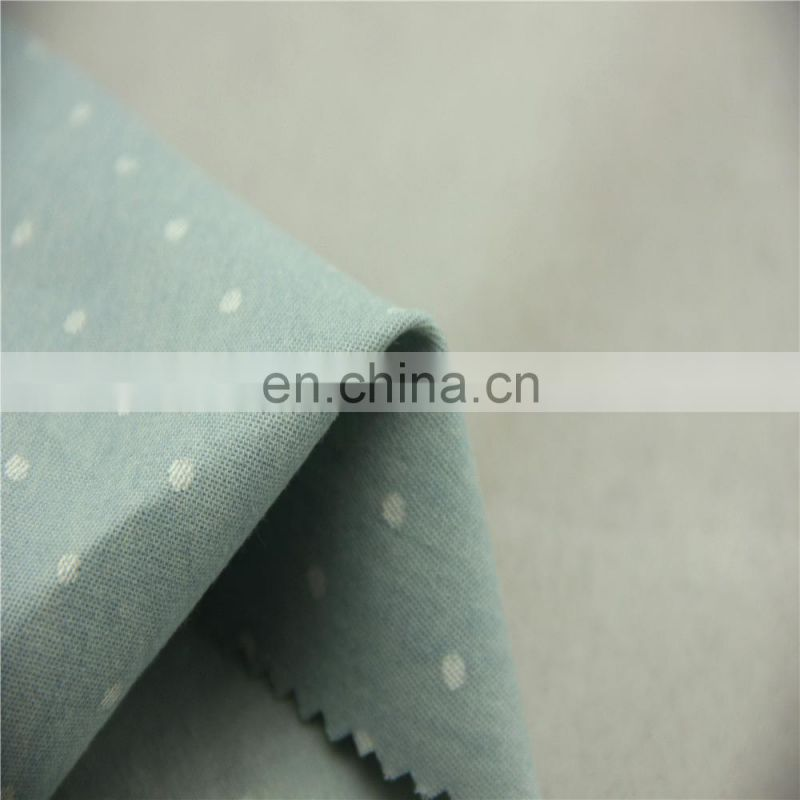 African printed 100 cotton denim dot printed stock fabric