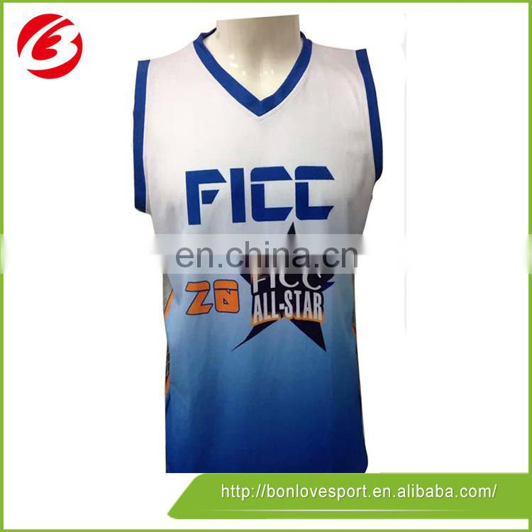 100% Polyester Sublimated Basketball Jerseys