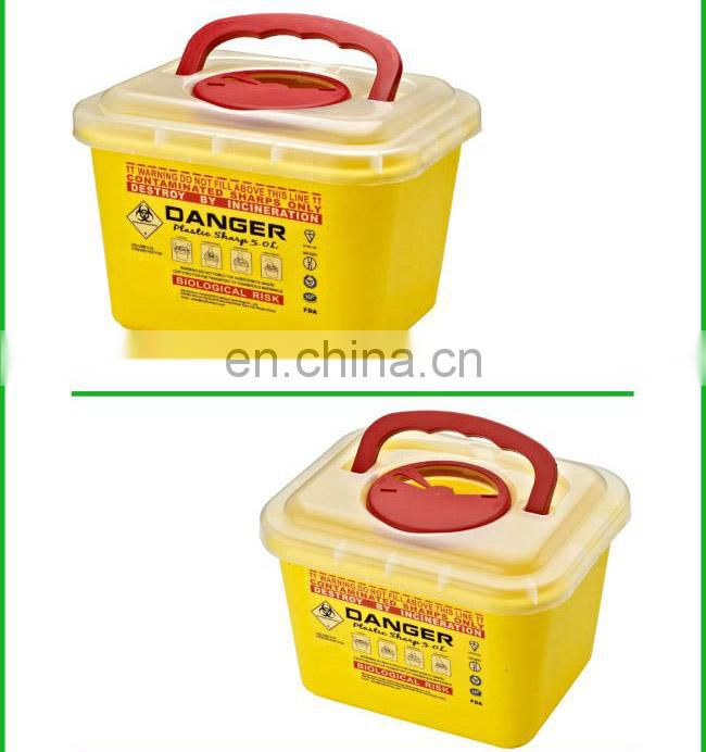 Medical Waste Box Needle Disposable Sharp Plastic Safety Box for Hospital