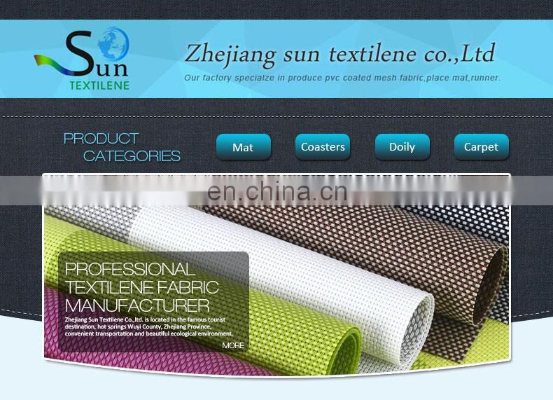 Hot sale grey PVC stripe fabric made in China