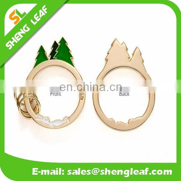 wholesale promotional gifts popular tree design metal keychain