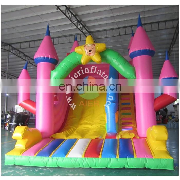 2017 Aier inflatable slide with pool/family party rental inflatable slide