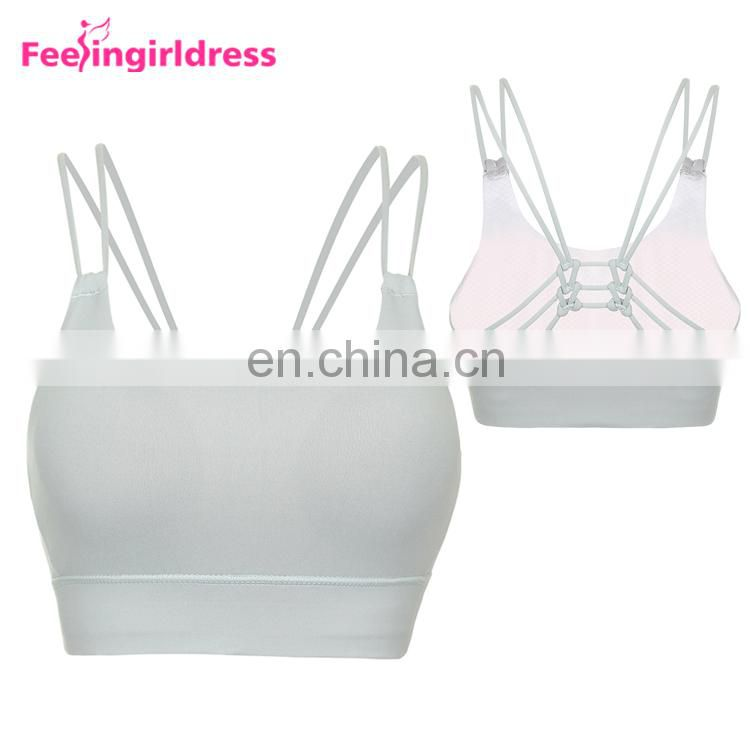 Elastic Hem Fitness Wear Ladies Top Fashion Sports Bra