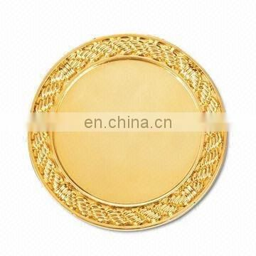 Gold plating blank metal coin