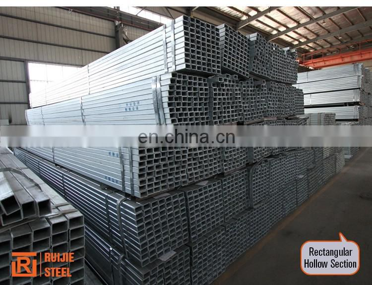 Pre galvanized square hollow section/Q235 rectangular steel pipe/ galvanized 18x18 steel tube