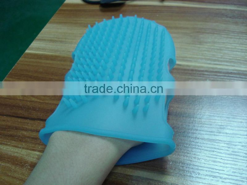 The new Europe wind bath special silicone glove