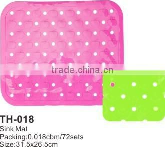 bathroom sink anti-alip PVC plastic mat