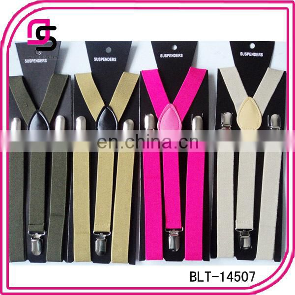 Alibaba Supplier Wholesale Cheap Price Holiday Suspenders Plain Colour Braces