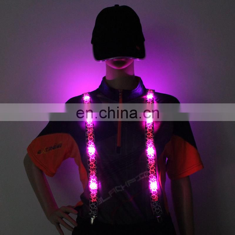 Hot sale fashion suspenders for girls led suspenders Cool LED Suspender