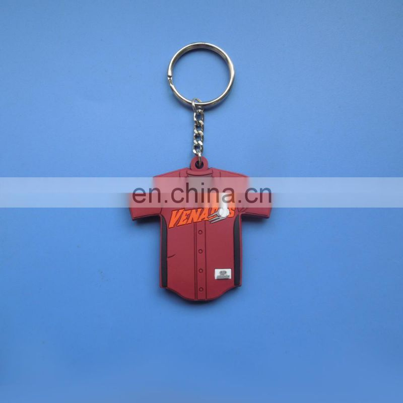 customized character image national feature 3D logo design soft PVC promotional gift keychain