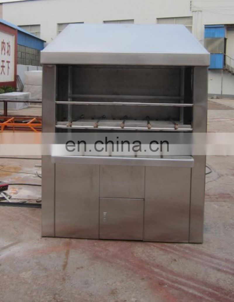 Hot sale Brazilian Rodizio Machine Gas and charcoal Grill Brazilian Churrascos machine