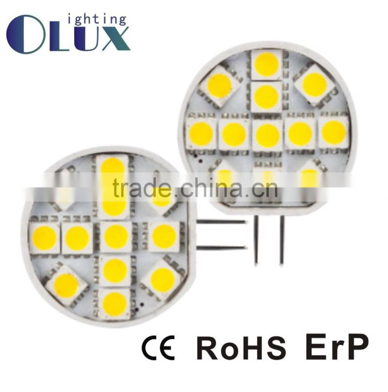 1.5W G4 led lamp 2835SMD led lighting AC/DC12V LED G4 Bulbs with CE RoHS Certification China supplier G4 led light bulb