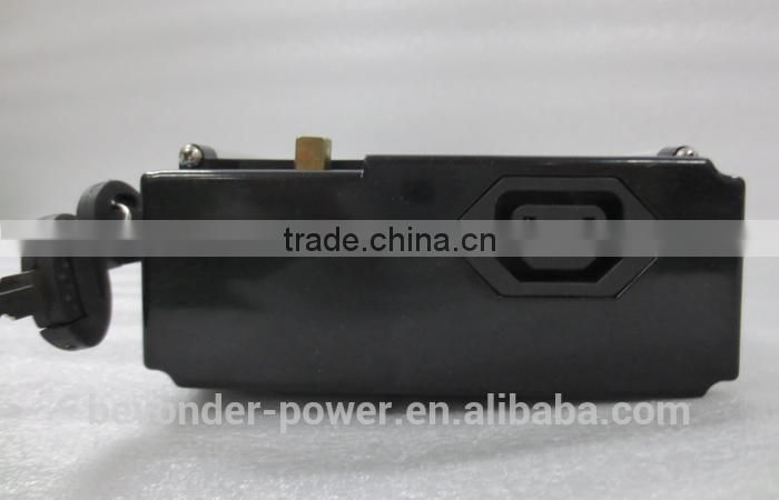 2014 new color lithium ion car battery electric bike hidden lithium battery pack with CE and RoHS and TUV