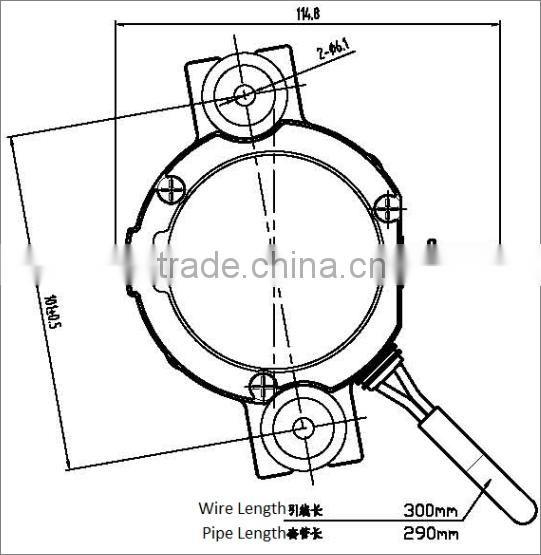 Electrical Brake Vacuum Pump With Blading Type For Braking Booster