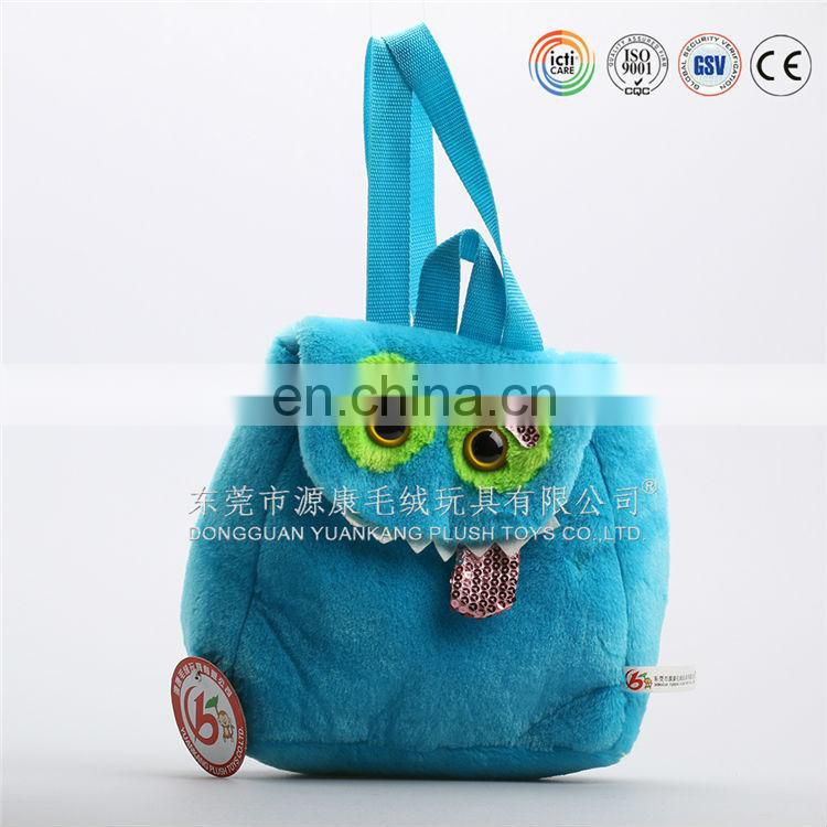 mini cute cotton blue backpack for baby