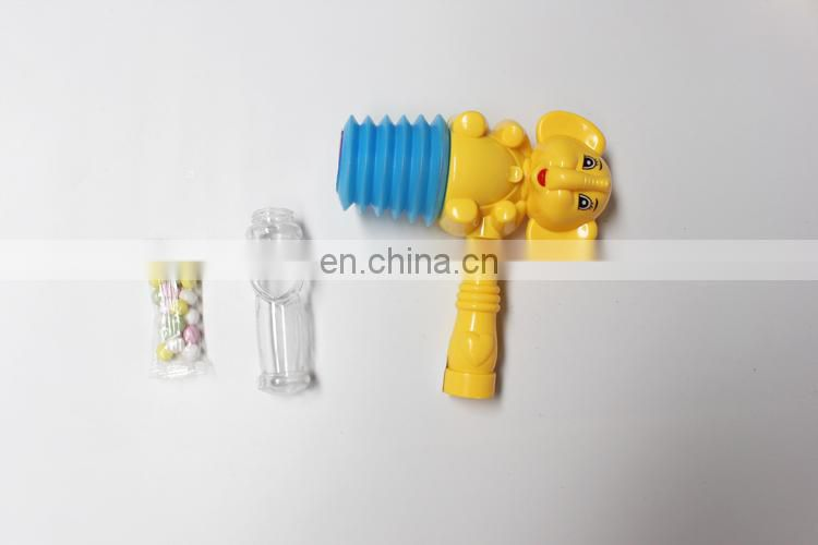 Cute elephant plastic toy candy with hammer