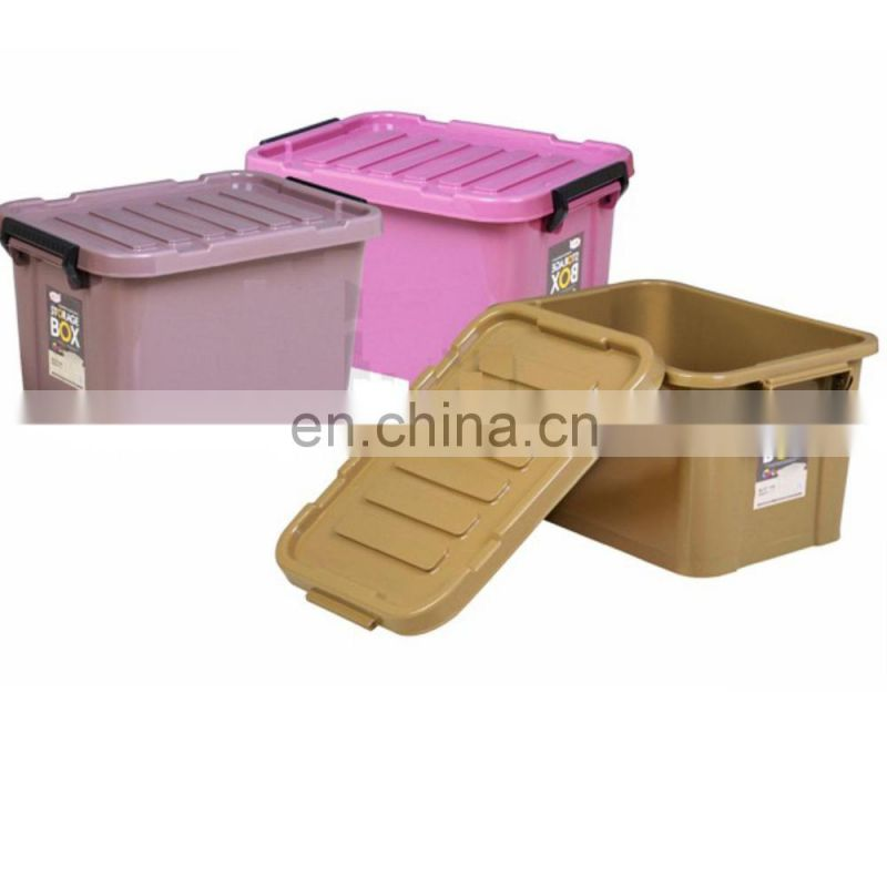Solid color 25L plastic storage container