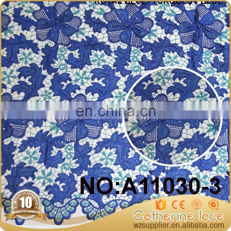 New arrical new lace fabrics african fabrics nigeria guipure cord lace for wedding