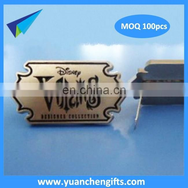 Best adhensive metal plate with company logo /Embossed brass plate