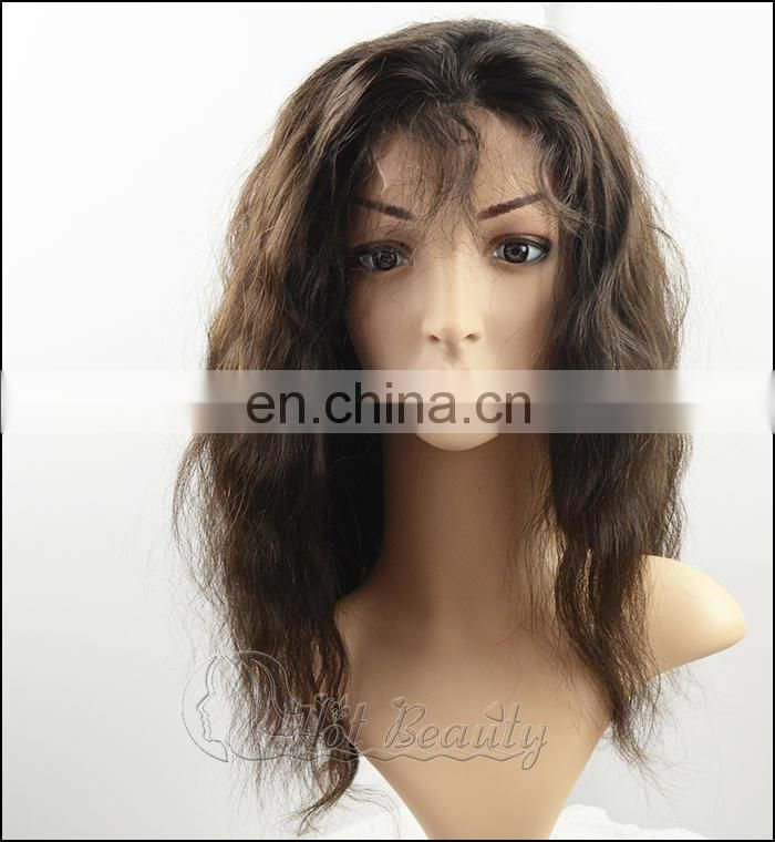 150g per piece Brazilian deep wave pineapple wave natural color lace front wig