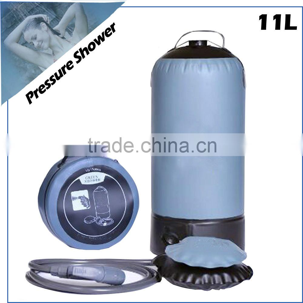 (74674) new design hot sales patent portable solar outdoor camping pressure shower