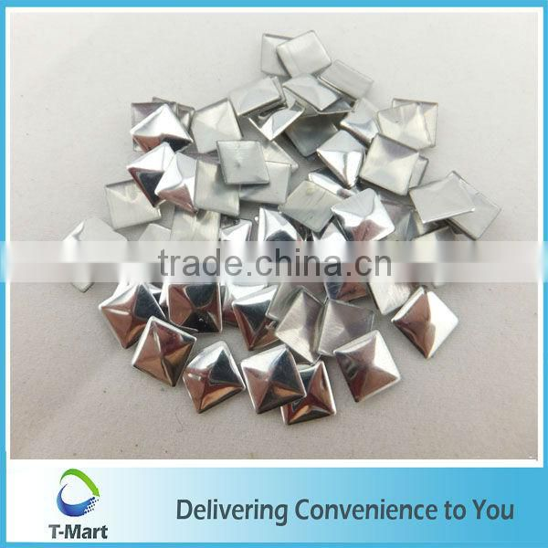 silver Iron on pyramid studs for clothes