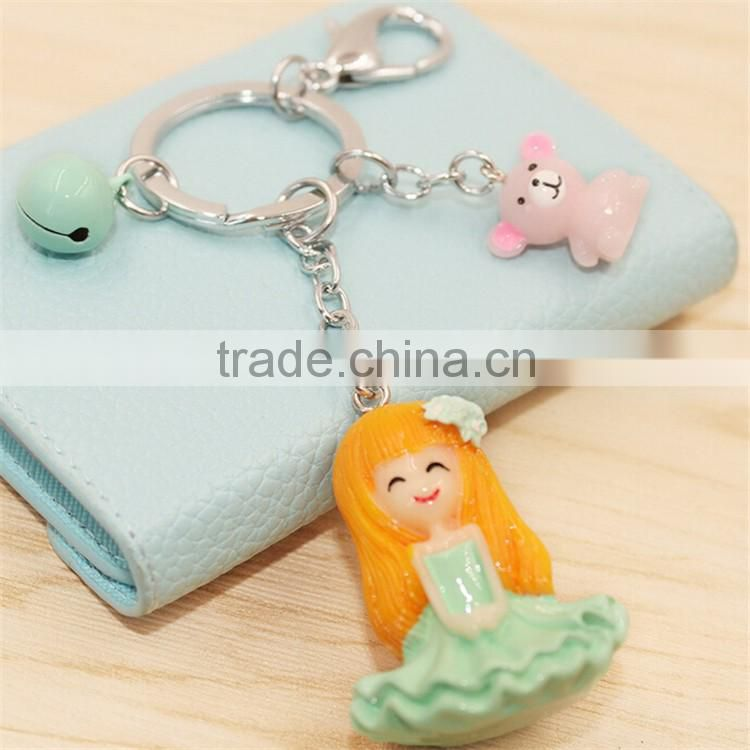High Quality Souvenir Keyring Beautiful Bags Charm Accessory Plastic Girls Keychain For Sale