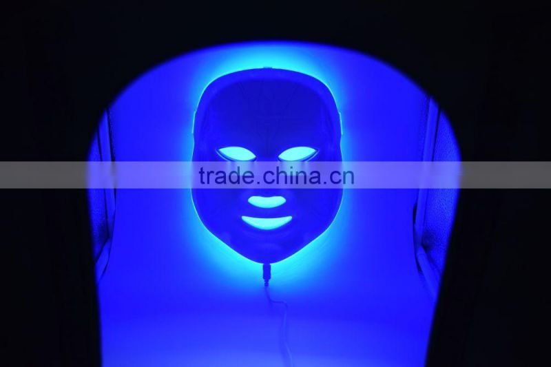 New!Red blue green 3 color Led Light Pdt Skin Rejuvenation Facial Mask
