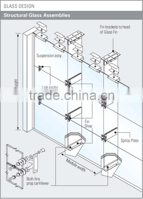 JINXIN curtain wall system glass spider joint fitting of