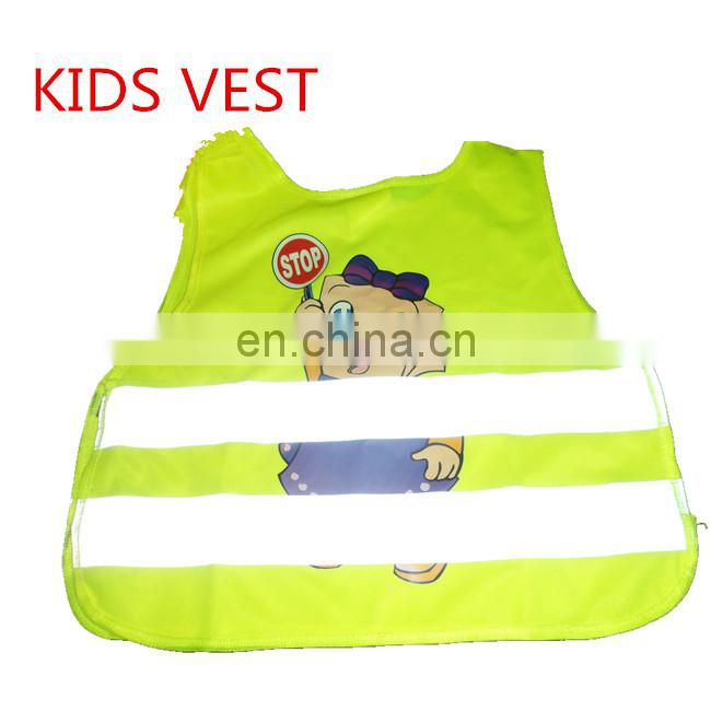 Black safety vest for childern/kids security vest