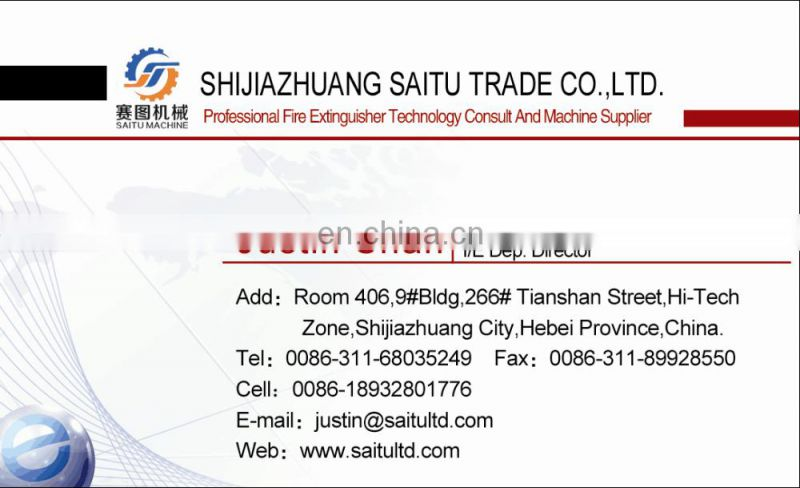 SAITU company fire extinguisher production machine