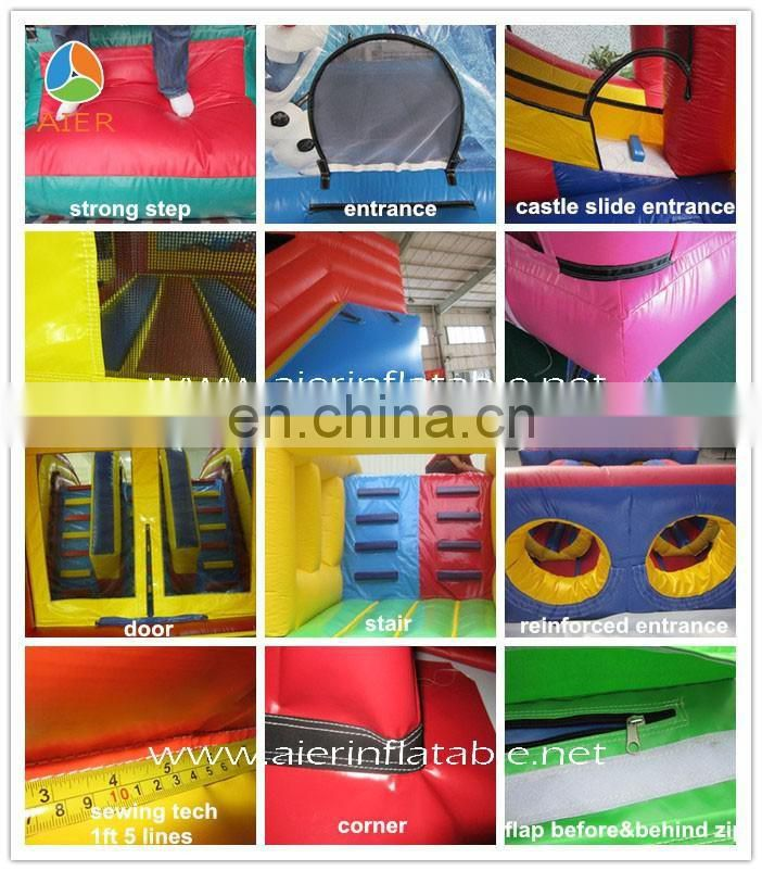 2016 Aier Popular inflatable castle slide