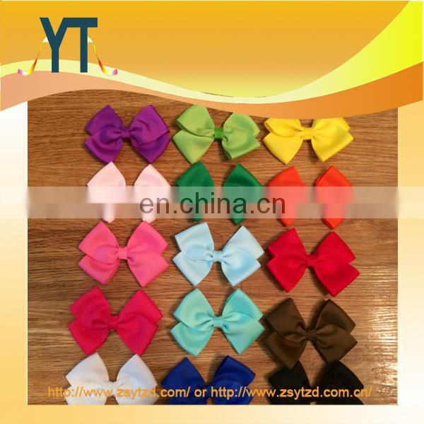 Pure Color Satin Boutique Hair Bow/Barrette/Hair Pin As Bowknot