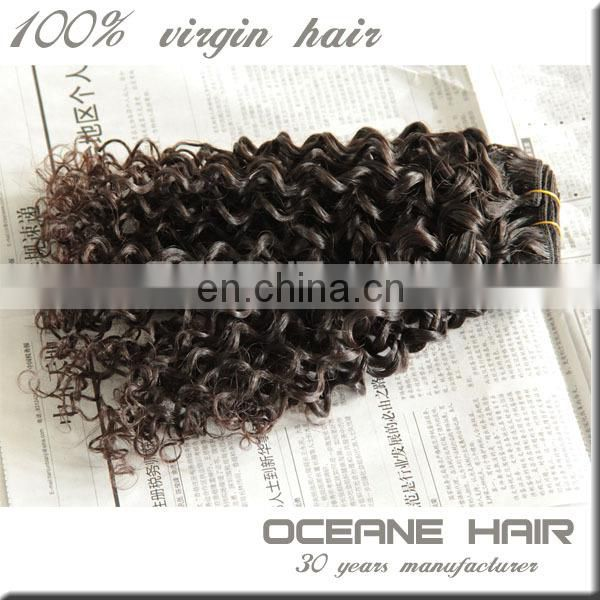 China wholesale high quality unprocessed curly hair extension for black women