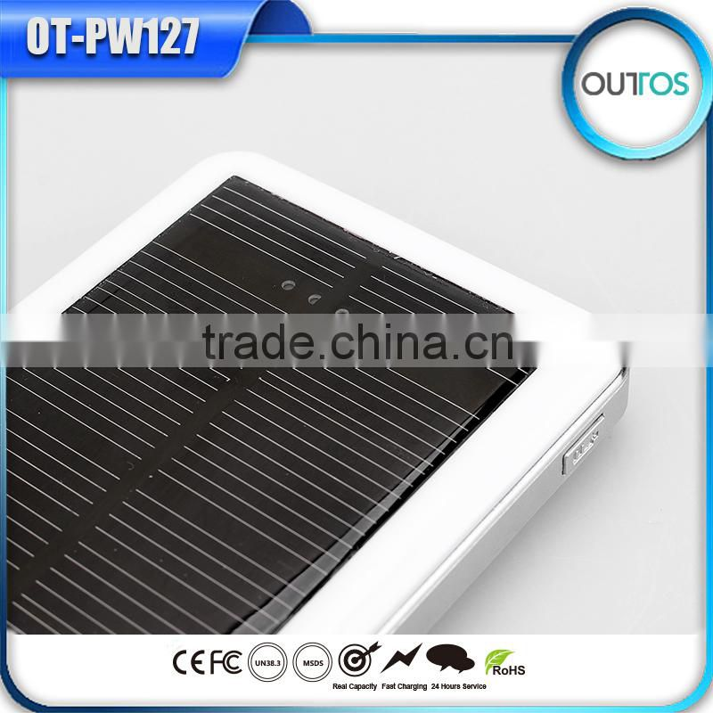 Wholesale Price Super Slim Power Bank Waterproof USB Port Solar Energy Power Bank for Ipad