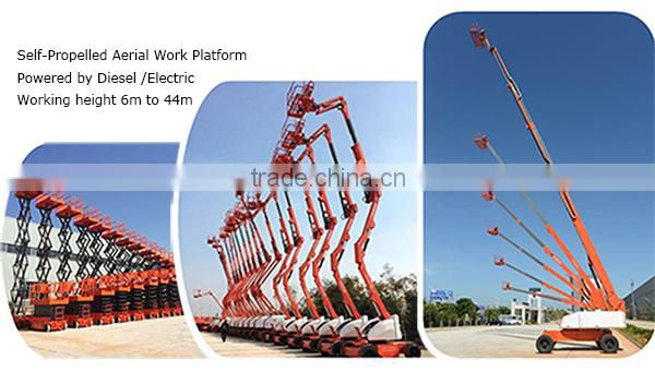 Mobile aerial hydraulic access platforms,cheap self propelled aerial working platform,movable climbing work platform for sale