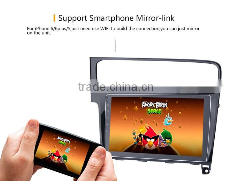 10.2 Inch 2 din 1024 600 Android 5.1.1 CPU 16 GB Black screen car gps stereo sounds dvd player OEM for vw golf 7 2013
