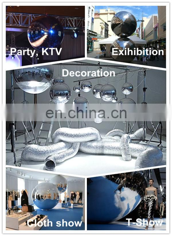 Outdoor Live Concert Decoration Sliver Reflect Inflatable Mirror Balloon for Show