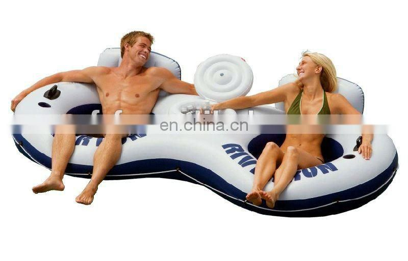 inflatable river run 2-Person Water Tube Float with Cooler